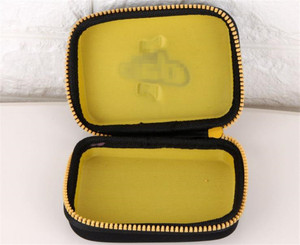 small compact zip-up convenient Travel Cleaning Kit case for shoe brushes