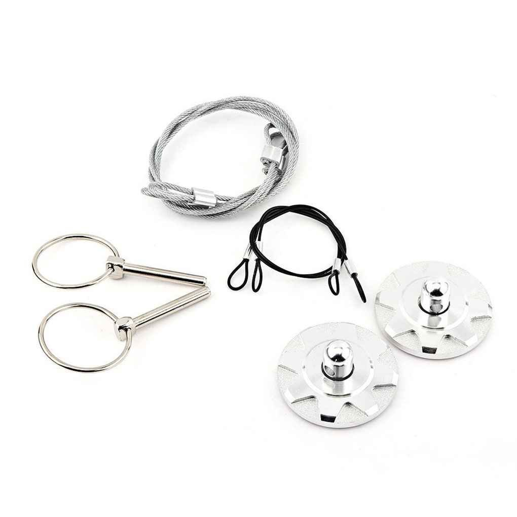 Silver Ruien Universal Aluminum Car Plus Flush Hood Latch Pin Kit Bonnet Hood Lock Pins Kit