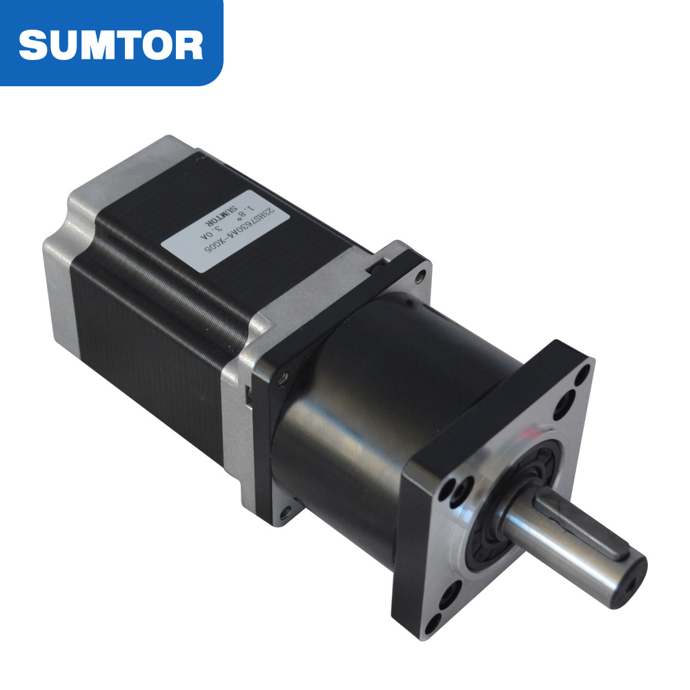 5~100:1 ratio 76mm motor length 1.8N.m holding torque 3A current planetary gearbox 5:1 23 gear stepper motor