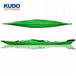 KUDO OUTDOORS Best Selling 4.5 M Green Red Yellow Plastic Single Sea Kayak In China