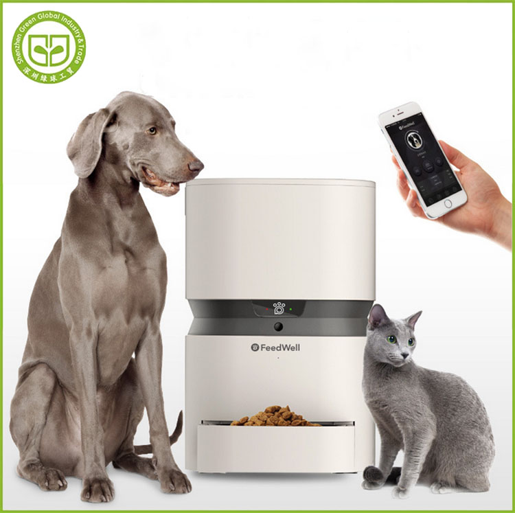 PDAF6 automatic pet feeder <strong>dog</strong> and cat bowl with camera