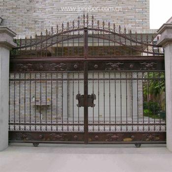 China Manufacturer Main Gate Designs Wrought Iron Gate Interior Door Price