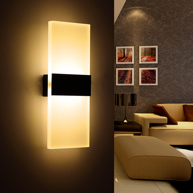Modern Led Wall Lamp Acryl Bed Room Wall Light Living