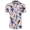Hawaii Style Wholesale Flower Print Polyester Flannel Shirt Boy