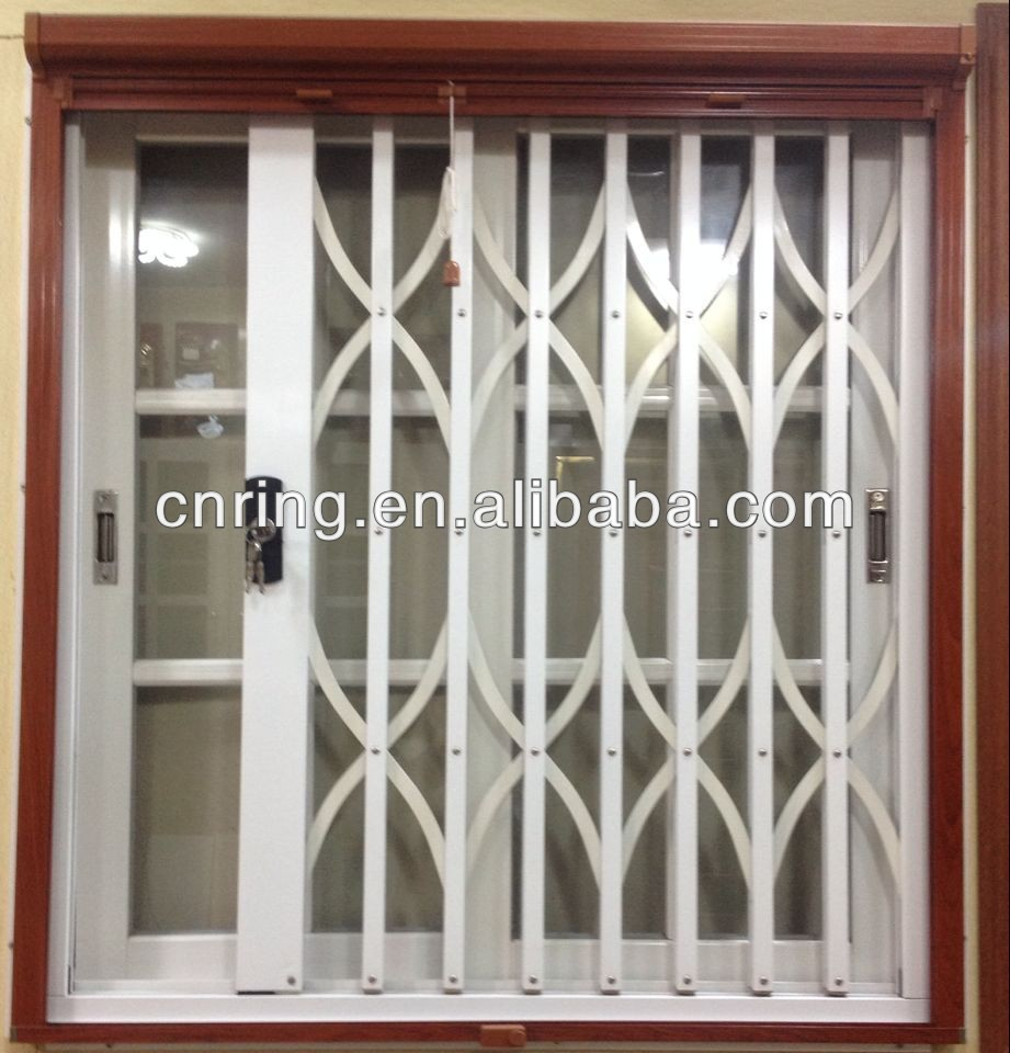 Ghana Style Aluminium Sliding Window With Burglar Proof Grills For Product On