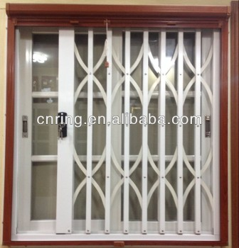 Ghana style aluminium sliding window with burglar proof for Grille anti effraction fenetre