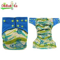 Ohbabyka General Size Cozy Soft Waterproof Baby Cloth Diaper