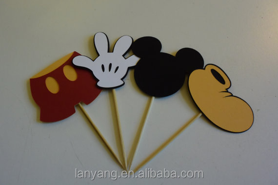 Party Decorations Mickey Mouse Cupcake Toppers