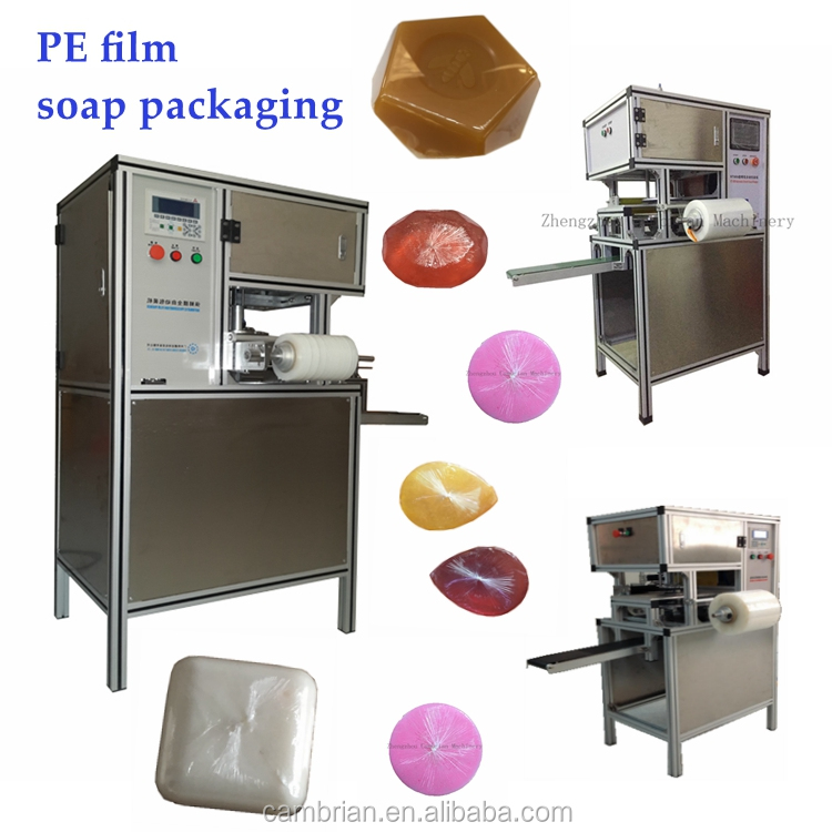 Automatic high speed small beeswax soap stretch film wrapping machine