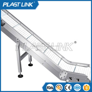 Plast Link fixed conveyor machine with belt for promotional
