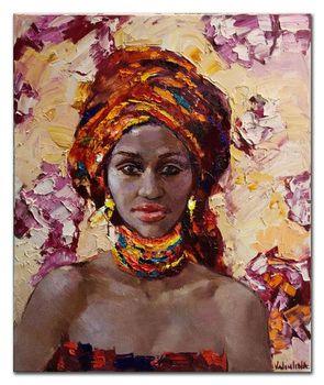 Femme Nue Africaine main abstraite moderne femme africaine afrique peinture À l'huile