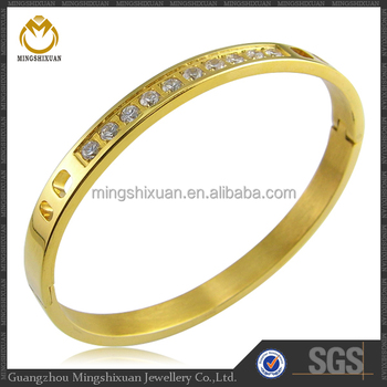 New Design Fashion Jewelry Gold Plated Bangle Lucky Draw Gift
