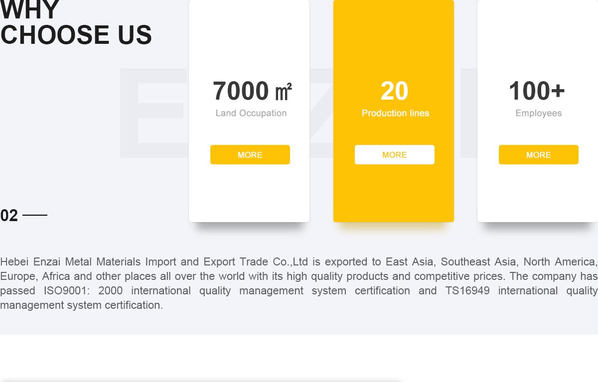 Hebei Enzai Metai Materials Import and Export Trade Co , Ltd