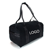 Promotional Durable Fashionable Cheap Mans Black Gym Duffle Bags