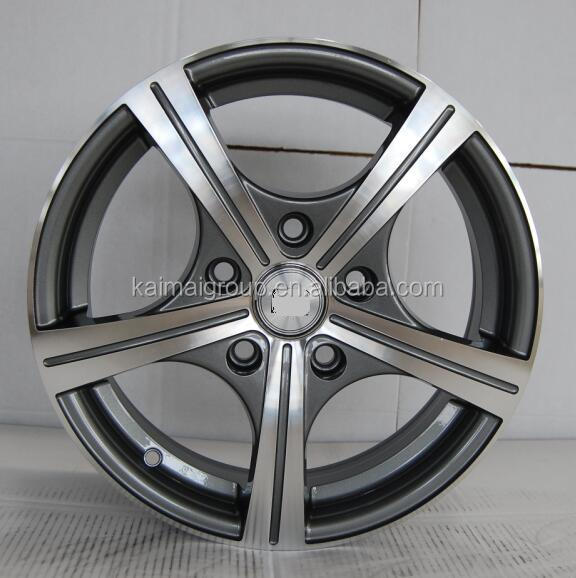 KM20 high quality 13/14/15inch machined face alloy wheels