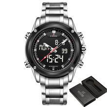 Часы Naviforce мужские, люксовый бренд, кварцевые, аналоговые, светодиодный, спортивные, армейские, военные, наручные часы(Китай)