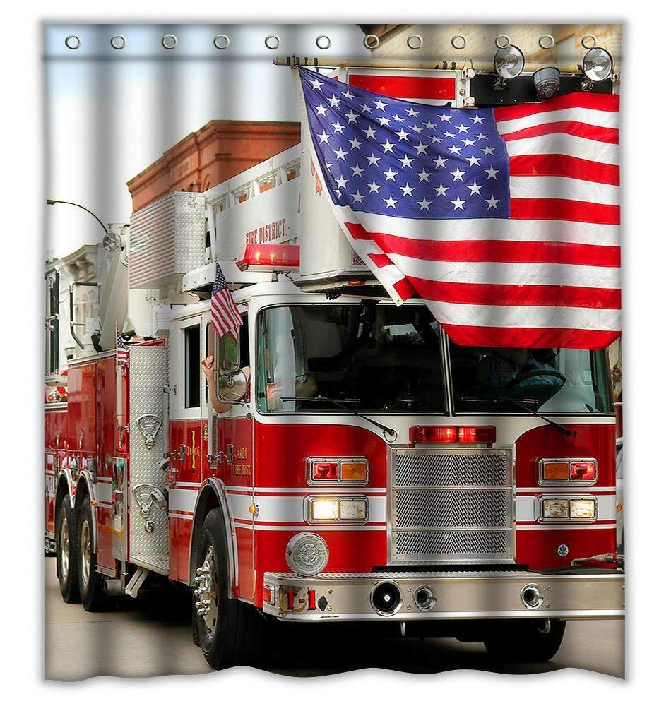 Fire Truck Curtain Find