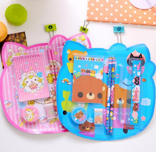 2016 back to school stationery set ,best prize gift kids stationery kit,cute design candy color creative girls staionery set