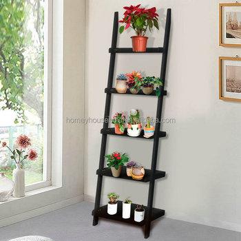 Garden decoration black ladder design wooden flower pot stand & Garden Decoration Black Ladder Design Wooden Flower Pot Stand - Buy ...