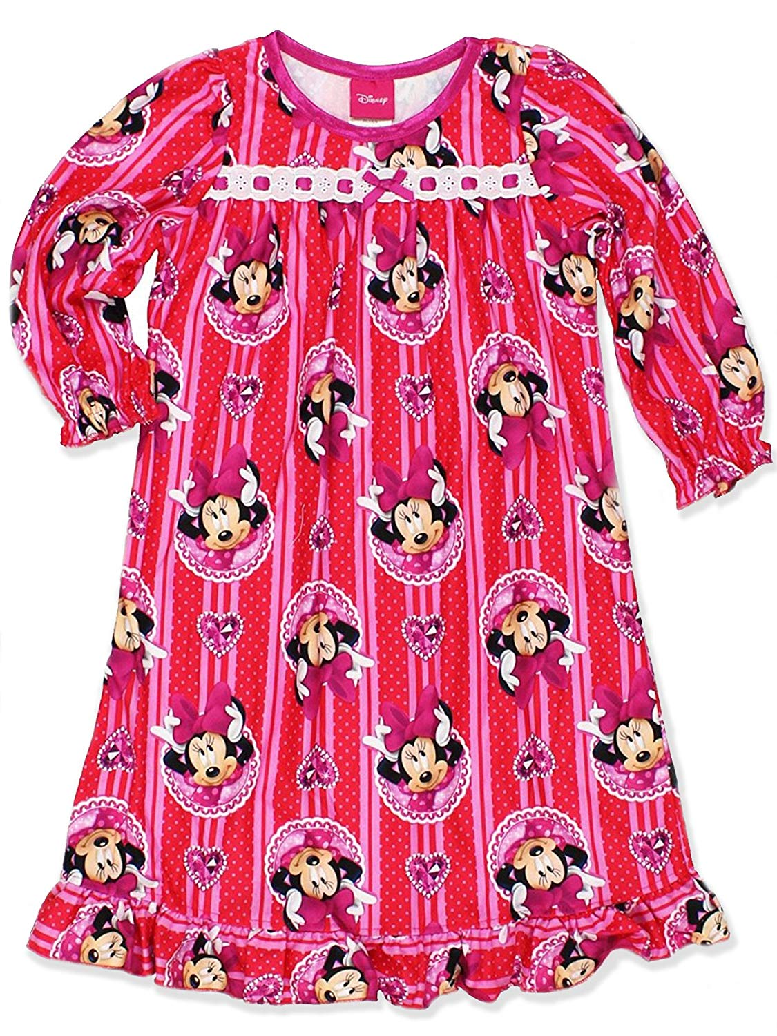 09b78e56d959 Disney Minnie Mouse Girls Flannel Granny Gown Nightgown (Toddler Little  Kid Big Kid