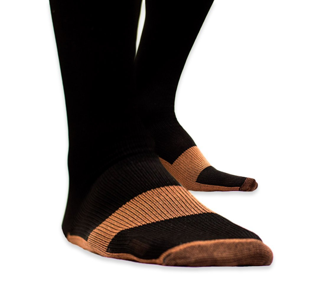 Fast Deliver 3 Pairs Unisex Miracle Copper Compression Socks Knee Anti-fatigue Leg Slimming Socks For Men And Woman Men's Socks