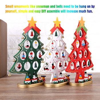 Christmas Festival Cartoon Images.Diy Wooden Cartoon Christmas Tree Decorations Ornaments Home Display Festival Gift Buy Christmas Decorations Gifts Store Christmas Ornaments Leather