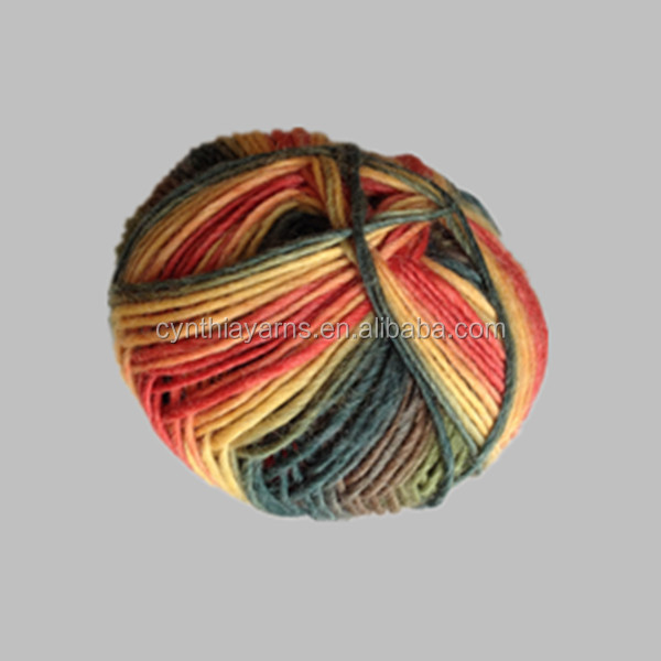 High quality 100% extrafine multicolor merino knitting wool yarn