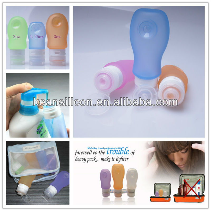 <strong>Fashional</strong> Hot Selling Travel Goods/Casual Travel Goods Leakproof Silicone Travel Bottle