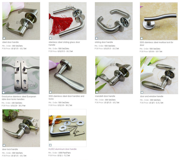 Door Hardware Interior Door Handle Sss Stainless Steel