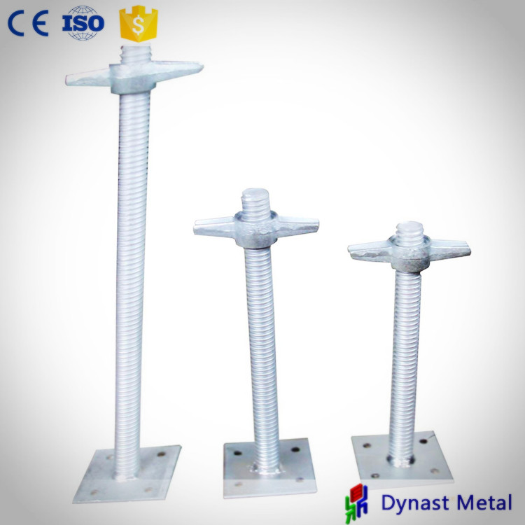 Customized OEM high quality Q235 Q345 scaffold leveling hollow and solid jacks adjustable scaffolding swivel base jack