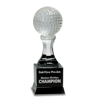 Crystal Glass Golf Cup with Black Base