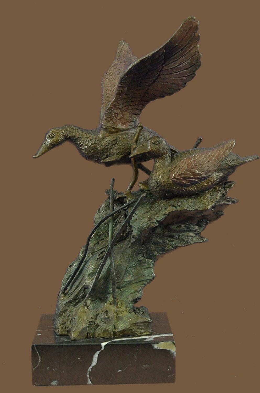 ...Handmade...European Bronze Sculpture American Artist Fisher Original Duck Decks Marshland (1X-XN-2414) Bronze Sculpture Statues Figurine Nude Office & Home Décor Collectibles Sale Deal Gifts