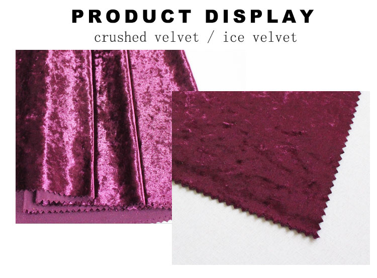 wholesale high-class shiny soft ice velvet fabric for clothes or sofa