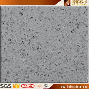 Gray Sparkle Quartz Slab Countertop Light Grey Starlight Stone