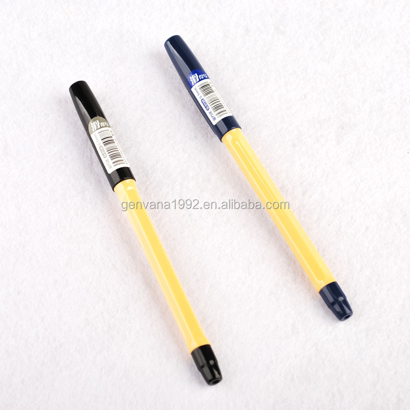 G-3134 Smooth writing yellow plastic barrel oil based gel ink pen