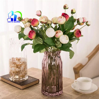 Flower Pot Wedding Decorations Crystal Tall Glass Vase For Flower