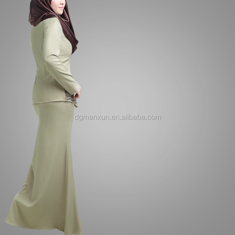New Style Kaftan Long Sleeve Muslim Abaya Fashion Popular Embroidered Design Malaysia Baju Kurung Wholesale Alibaba