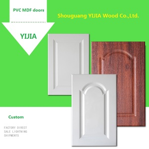 China Factory Direct Sale Custom PVC MDF Kitchen Cabinet Doors