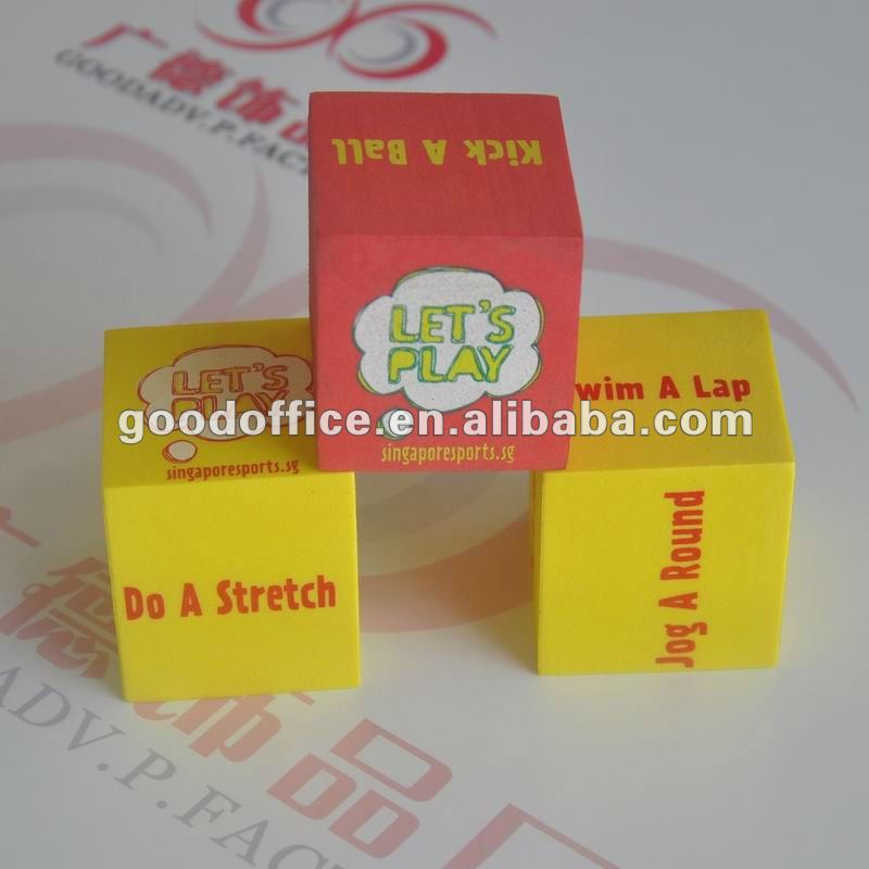 fashionable toy and China factory manufacture promotional gifts foam dices