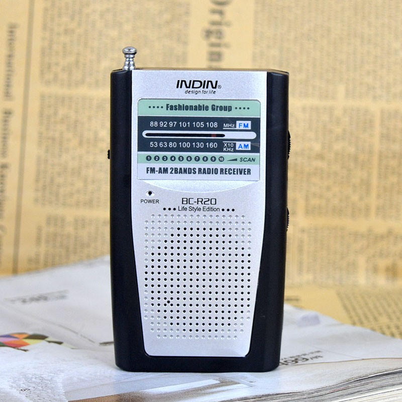 2016 Fashion Built in Speaker Portable Portable AM FM Radio BC-R20