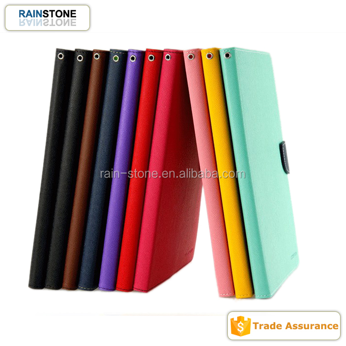 Trendy contrasted color functional case cover for galaxy tab 3 lite T111 flip case