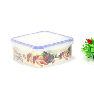 household clip lock hermetic plastic food containers bento box bpa free freshness keeper