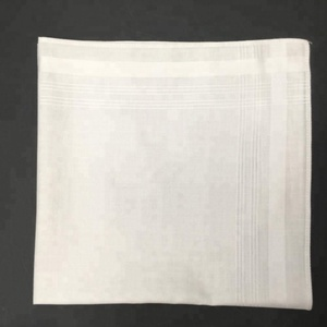 soft cotton fabric white men high quality satin wholesale cotton handkerchief