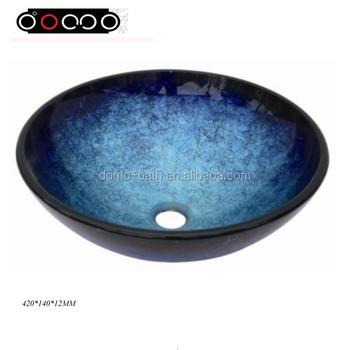 Domo Fashion Hotel Style Bathroom Vanities Tempered Glass Design