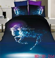 Luxury Design 100% Cotton 3D Bedding Set horse bedding
