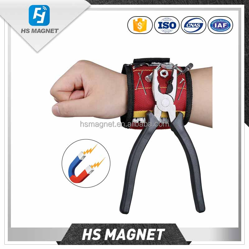 Imported From Abroad Magnetic Wristband Portable Tool Bag With 3 Magnet Electrician Wrist Tool Belt Screws Nails Drill Bits Bracelet Repair Tool #30 Accessories Electric Vehicle Parts