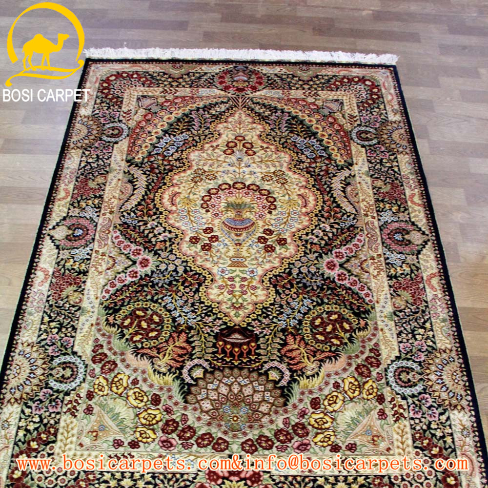 4x6ft Indian Silk Home Textile Strong Handmade