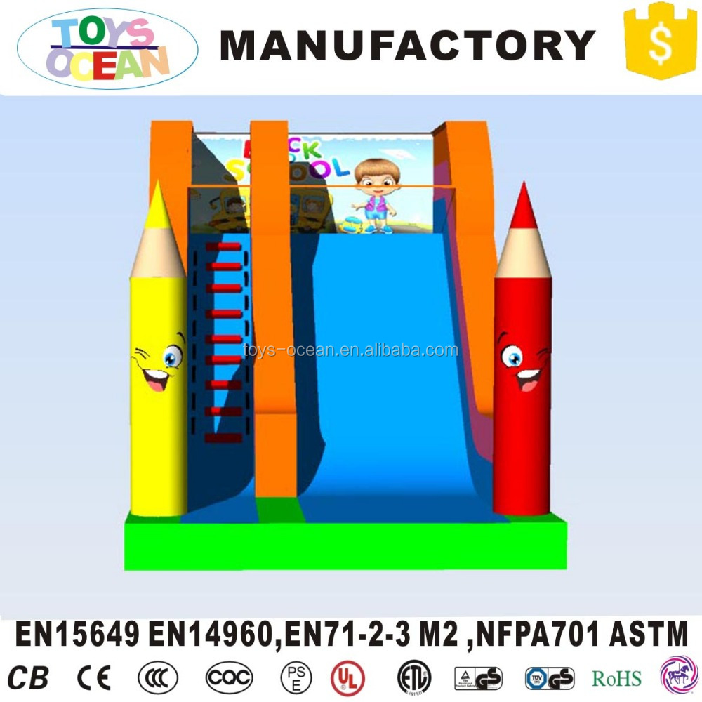 indoor kids party mini inflatable pencil style slide