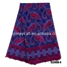 beads tulle french lace purple heavy fabric embroidered net material manufacturers