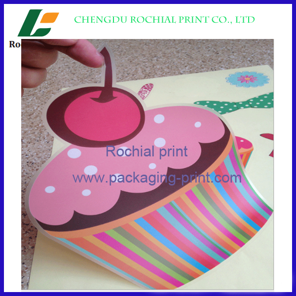 Factory price adhesive Packaging individual stickers promotional